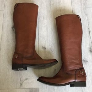 Frye Brown Tall Riding Boots Leather